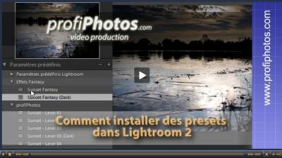Astuce : utilisation des presets dans Lightroom