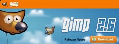 Logiciel : sortie de The Gimp 2.6
