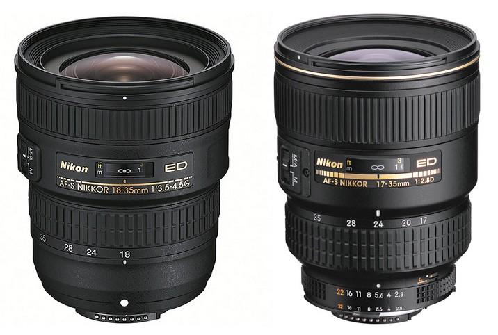 Test : l'objectif Nikon AF-S 18-35mm f/3,5-4,5 G vs Nikon AF-S 17-35mm f/2,8 D ED