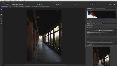 développement raw Affinity Photo