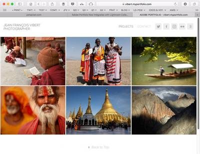 publiez de Lightroom directement vers Adobe Portfolio