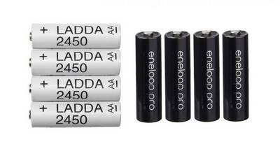 batteries Ikea vs Eneloop Pro