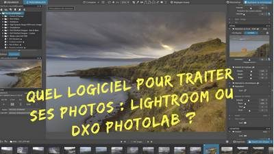 logiciels photo Abobe Lightroom vs DXO Photolab