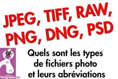 les formats fichier photo